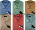 New Mens Short Sleeve Poly Cotton Plain Shirt M - XXL By Tom Hagan
