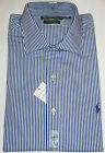 AUTHENTIC RALPH LAUREN MEN'S LONG SLEEVE CUSTOM FIT REGENT DRESS SHIRT - NAVY