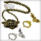 Silver Gold Antique Bronze Dragonfly Toggle Clasps Fasteners Bracelet Findings.