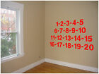 (31) Number Stickers, Kids Decor, Bedroom Stickers, Wall Decal, Vinyl graphic