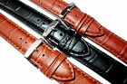 XL Matt Crocodile grain leather watch strap. Great detail. 18, 20, 22 and 24mm