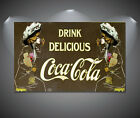 Vintage Coke Coca Cola Retro Large Poster - A1, A2, A3, A4 sizes £7.9  on eBay