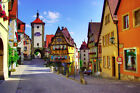 Rothenburg Bavaria Germany Plönlein fork Canvas Home Wall Art Prints Photo Print