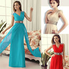 Prom Formal Party Sexy Bridesmaids Evening Cocktail Chiffon Gown Long Maxi Dress