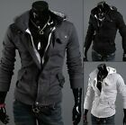 WT886 Mens Sexy Slim Fit Top Designed Hooded Hoodies Jackets Coats 3color 5size