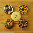 Wooden Buttons - Animal Print - 30mm - Cardigans - Summer Coats -Sewing - Cards