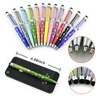 2in1 Bling Crystal Universal Touch Screen Stylus Pen For iPhone Samsung Tablet