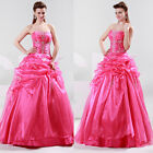 Charming Voile Wedding Dress Bridal Prom Ballgown Evening Dress Custom Size 6~20