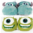 Disney Monsters Ink University Childrens Kid Novelty Slippers Mike James Sulley
