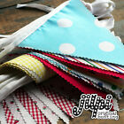 10 - 40ft (3 -12m) JILPI FABRIC BUNTING, RED YELLOW BLUE PINK WHITE PURPLE GREEN
