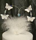 crystal, pearl,heart, feather birthday  wedding party celebration cake topper
