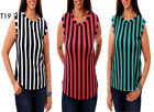 T19 New Womens Fashion Chic Work Office Chiffon Sleeveless Plus Size Tops Blouse