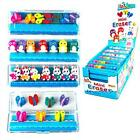 Box of 7 Mini Erasers Butterfly, Penguin, Bunny - Girls Novelty Stocking Fillers
