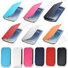 FOR SAMSUNG GALAXY S3 SIII I9300 PREMIUM BATTERY FRONT COVER FLIP CASE FREE FILM
