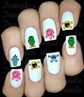 30 MR MEN NAIL ART DECALS STICKERS TRANSFERS PARTY FAVORS BUMP HAPPY MESSY
