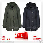 NEW LADIES WOMENS MILITARY ARMY PARKA PADDED HOODED WINTER JACKET COAT PLUS SIZE