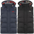 TOKYO LAUNDRY MENS KYBER PADDED HOODED BODY WARMER GILET JACKET SIZE S-3XL