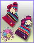Baby girls striped hat and mittens age 0-24 month coat gloves clothing outfit