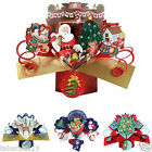 LARGE RANGE OF POP UP CHRISTMAS CARD FOR CHILDREN KID'S ADULT'S 3D XMAS CARDS