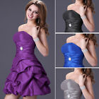 Lady Sexy Formal Gown Bridesmaid Dress Short Evening Cocktail Ball Wedding Dress