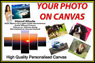 "Personalised Canvas Printing Your Photo Picture Image Printed Box Framed 32""x12"""