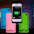 1900mAh Juice Power Pack External Backup Battery Charger Case Cover iPhone 4 4S
