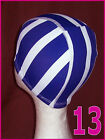 1x Kids 4 - 14 yrs LYCRA SWIMMING CAP - STRIPED Designs - Childs Swim Hat - NEW