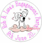 PERSONALISED ENGAGEMENT COUPLE ON CLOUD STICKERS SEALS GIFT FAVOURS INVITES ENG8