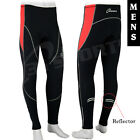 Mens Winter Cycling Tight Trouser CoolMax Padded Running Legging RED - S-M-L-XL