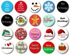 """CHRISTMAS (Various Designs) - 1"""" / 25mm Button Badge - Choose From 20 Cute Xmas"""
