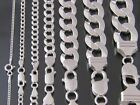 925 Sterling Silver Solid Real Men Classy Italian Cuban Curb Link Chain