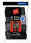 5 Pair Hanes Men's Boxer Briefs with Ringer Detailing Assorted Colors Size S-XL