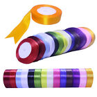 22 Metres of Satin Ribbon Craft Supplies crafts 16Colors -6sizes -25 Yards rolls