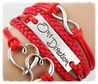 1D ONE DIRECTION INFINITY LEATHER BRACELET BRAND NEW IN STOCK