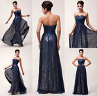 Stunning Lady Sexy Sequins Chiffon Formal Ball Gown Evening Prom Party Dress New