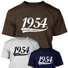 1954 LIMITED EDITION - Mens 60th Birthday T Shirt Gift