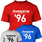 AWESOME SINCE 1996 - 18th Birthday Gift T Shirt For Men