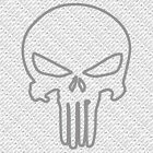 PUNISHER SKULL HARLEY CHOPPER BIKE RIFLE GUN PISTOL VINYL DECAL STICKER (P-01)