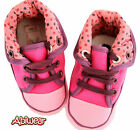 Rose Pink orPale Pink Canvas Spotty Boot Shoe Pram Walker Kids 0-18M