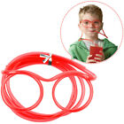 Lovely Fun Drinking Flexible Soft Glasses Straw Glasses Drinking Tube, 4-color