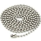 "Stainless Steel 2.5mm Ball Chain Necklace 16"" - 35"""