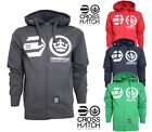 Mens Boys Crosshatch Hoodie Designer Branded Hoody Zip Up Sweatshirt Jumper Size