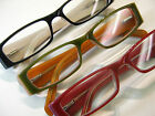 3/$25 Reading Glasses Optical Frame Red Green Black Burgundy Spring Temple