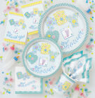 BOY/GIRL/UNISEX BABY SHOWER PARTY PASTEL STITCHING ALL TABLEWARE ITEMS LISTED
