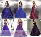 Designer purple 3 plus evening party ball gowns prom dress size 8 10 12 14 16 18