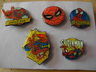Spiderman. 5 Assorted badges. Marvel official product. Spider-man. Cheap 2 clear