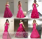 Designer hot pink 2 plus evening party ball gowns prom dress size 10 12 14 16 18