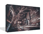 Cityscape Canvas Print Wall Art Premium Quality City Night Lights  Framed