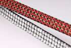 HERITAGE ENGLISH LEATHER CRYSTAL 3 ROW BROWBAND - FULL WHITE CLEAR