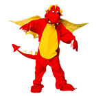 BOYS GIRLS KIDS RED DRAGON WELSH WALES ONESIE CHILDS FANCY DRESS COSTUME